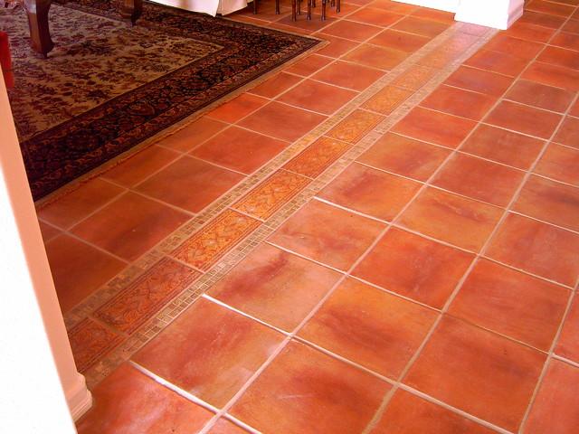 mexican saltillo tile with custom edge