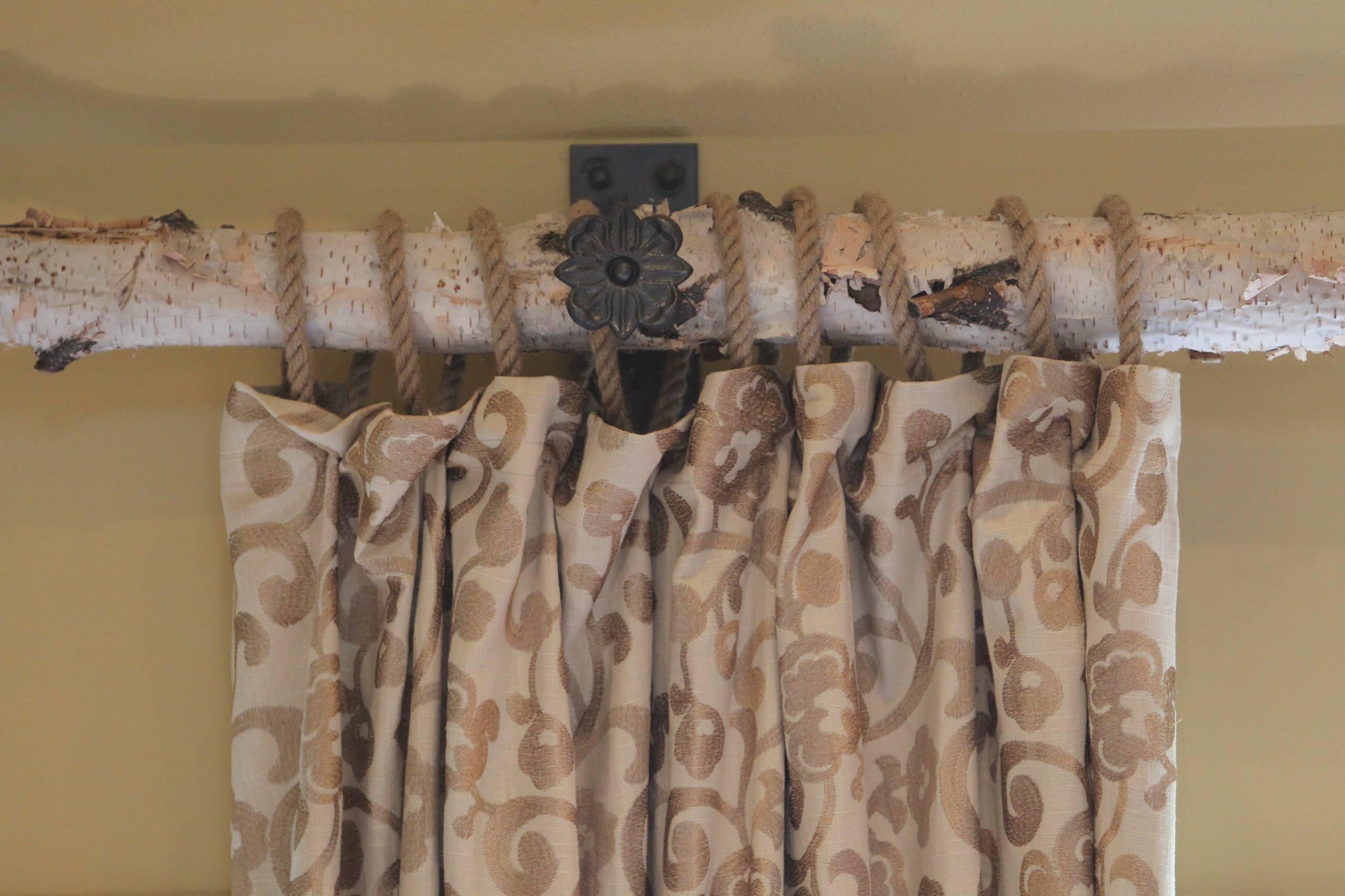 branch curtain rod houzz