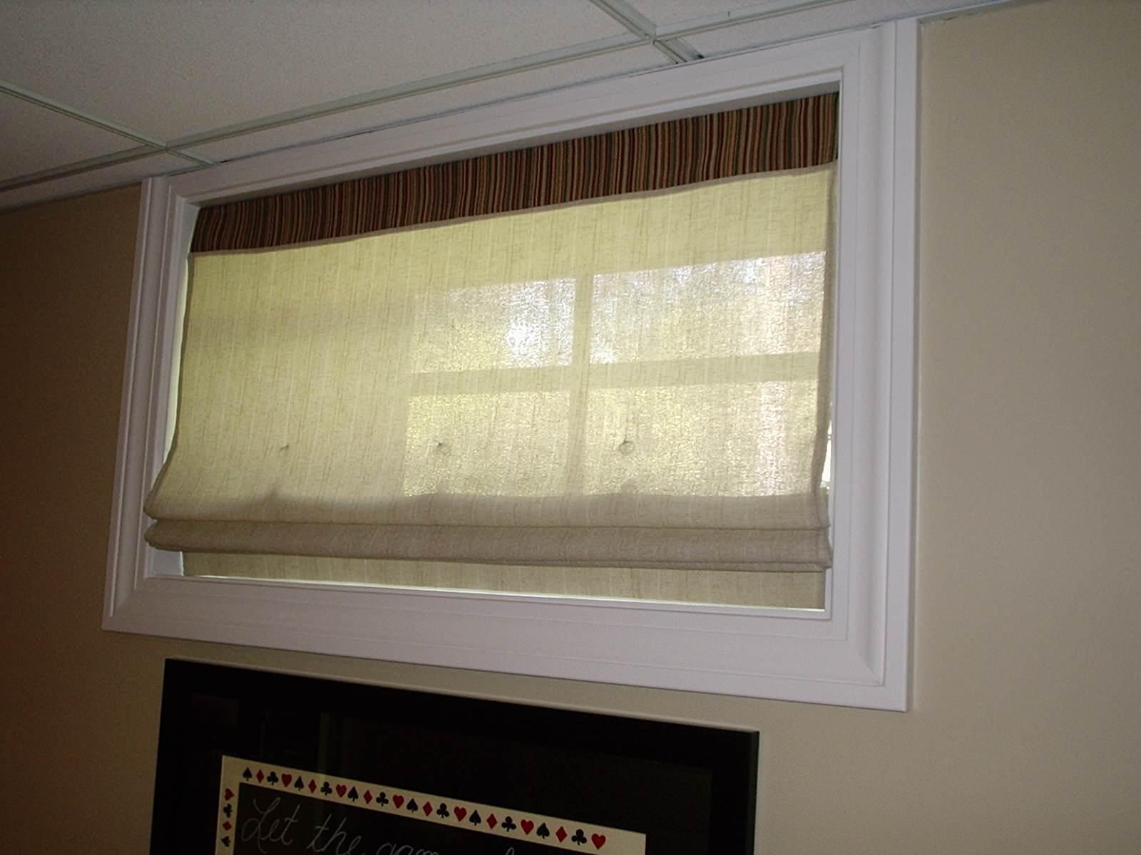 basement window treatment houzz