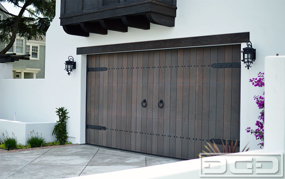 Customized Wood Garage Door Gate Design In An Authentic Spanish Colonial Style Rustic Garage San Francisco By Dynamic Garage Door