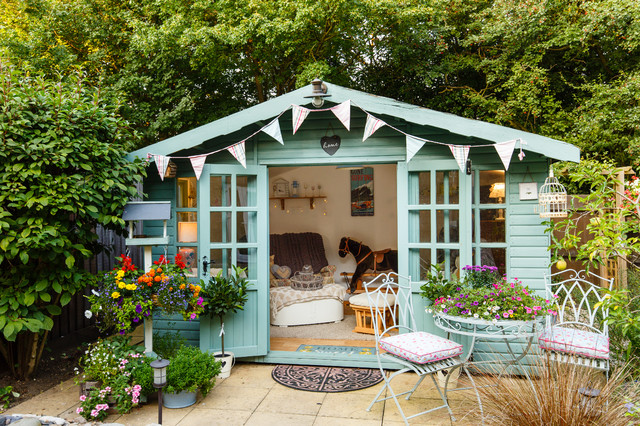 Summer House Shabby Chic Style Shed Cambridgeshire By Jenny Ballantyne Interiors