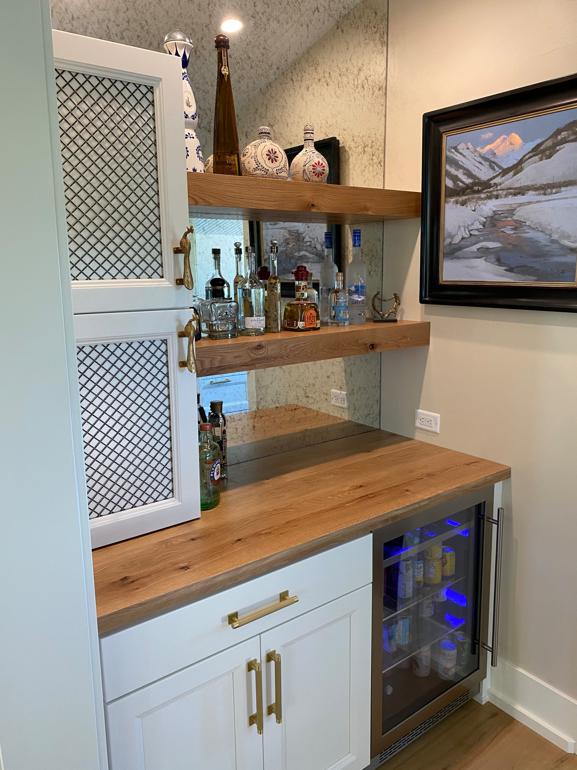 75 Beautiful Home Bar With Floating Shelves Pictures Ideas December 2020 Houzz