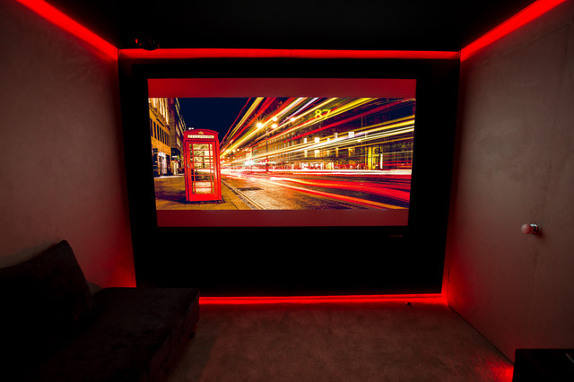 red led light contemporary home