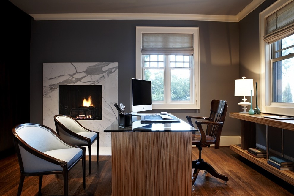 Modern Craftsman Master Bedroom Office Contemporary Home Office Seattle By Beth Dotolo Asid Rid Ncidq