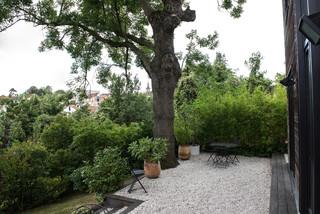 jardin contemporain avec du gravier
