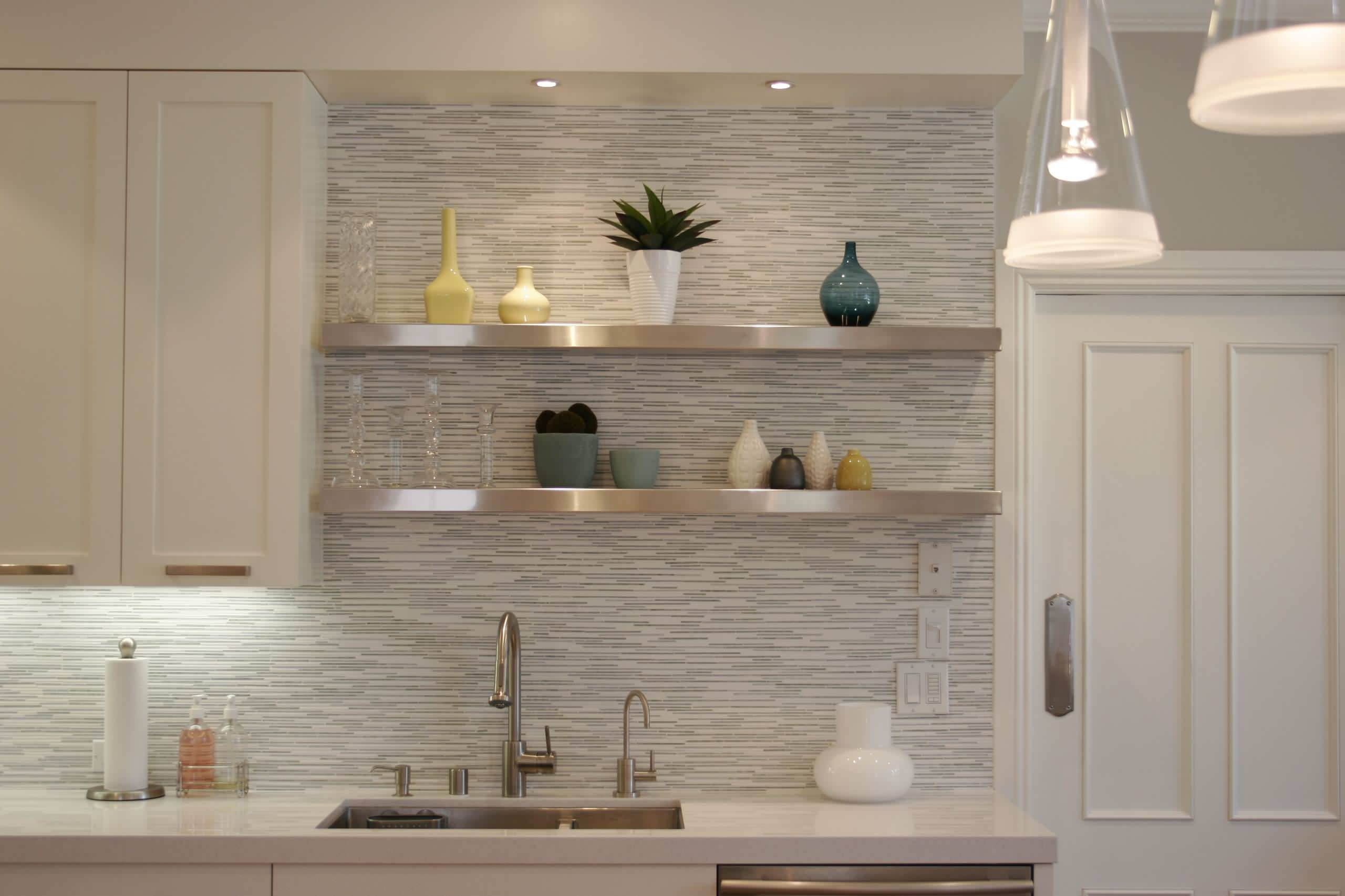 shelves above sink houzz