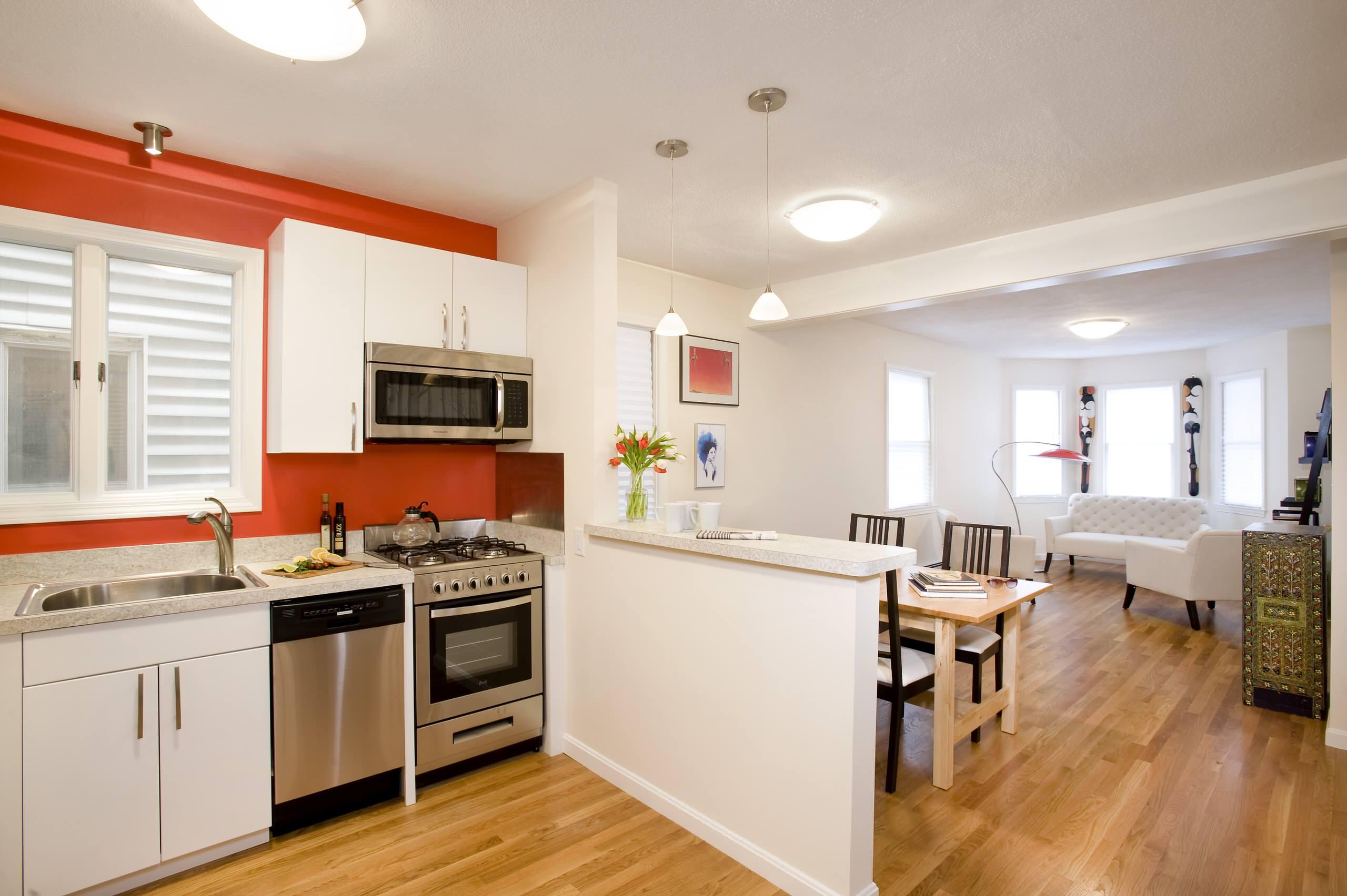 Half Wall Kitchen  Houzz