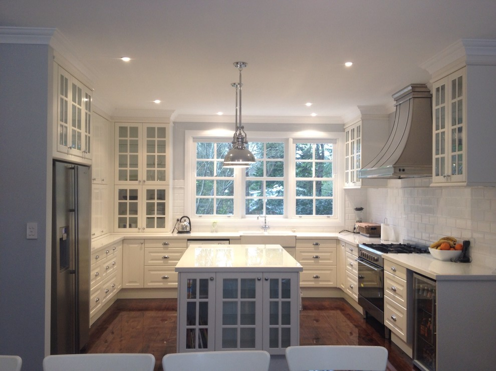 Classic White Kitchen In Australia Traditional Kitchen Other By Inspired Kitchen Design Houzz
