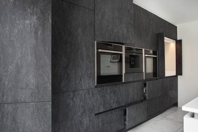 Full Wall Of Cupboards And Appliances Contemporary Kitchen Buckinghamshire By Design A Space Kitchens Bedrooms Interiors Houzz Uk