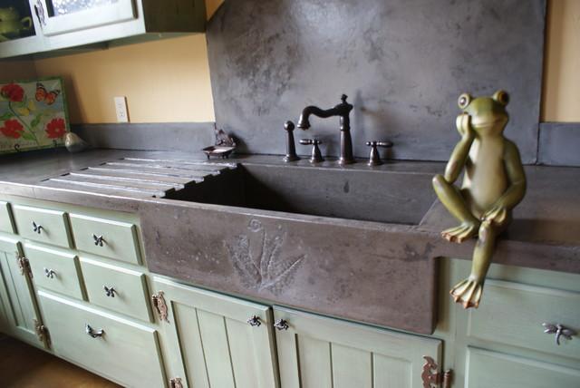 garden sink eclectic kitchen