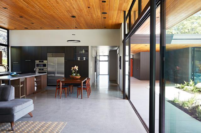 Glass Wall House Modern Kitchen San Francisco By Klopf Architecture Houzz Uk