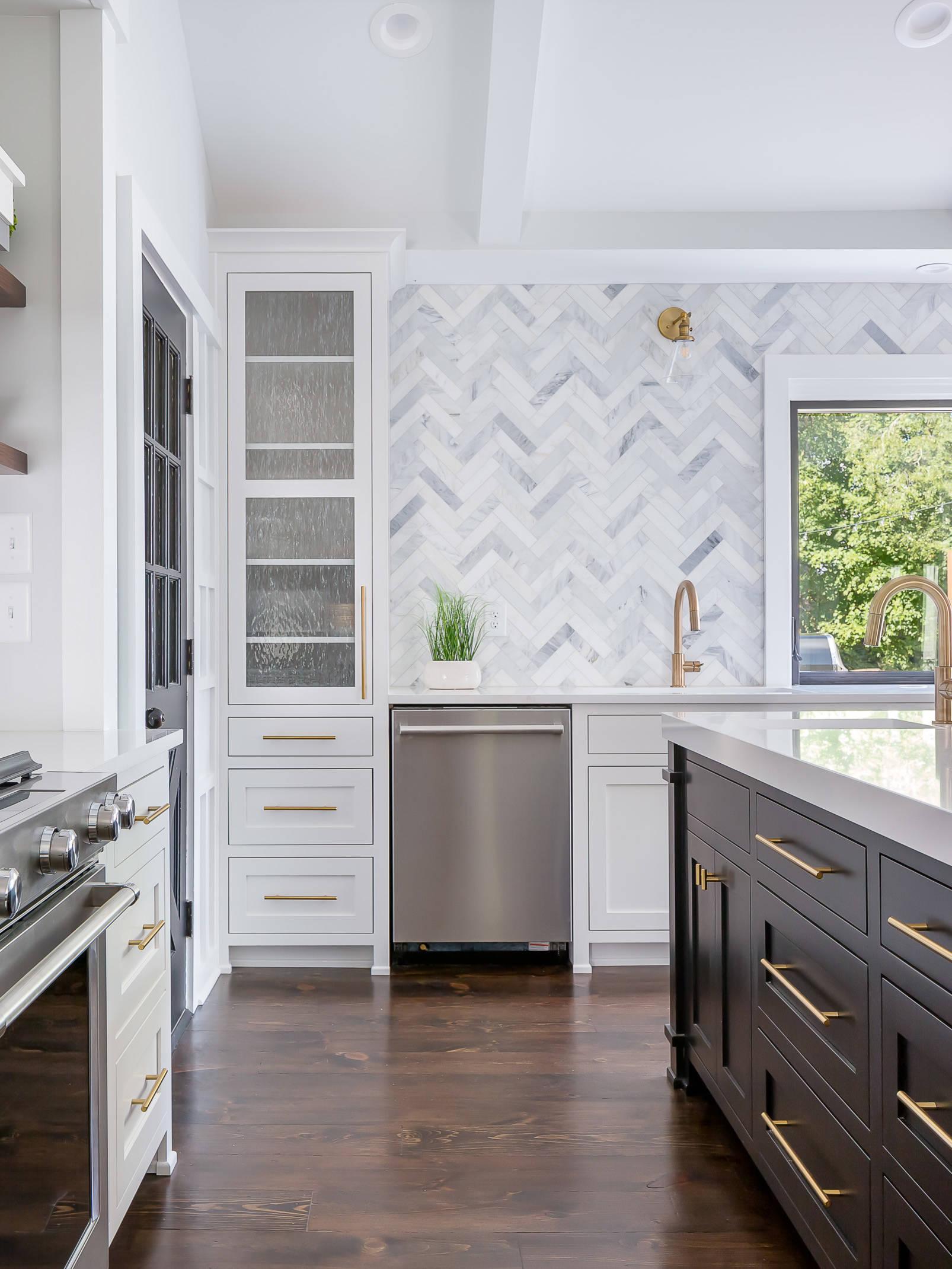 75 beautiful gray kitchen backsplash