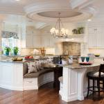 Curved Island With Seating Overhang And Kitchen Ideas Photos Houzz