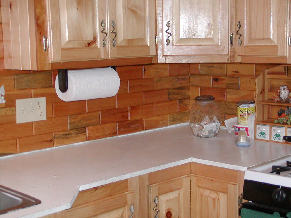 splashes using our wooden wall tiles