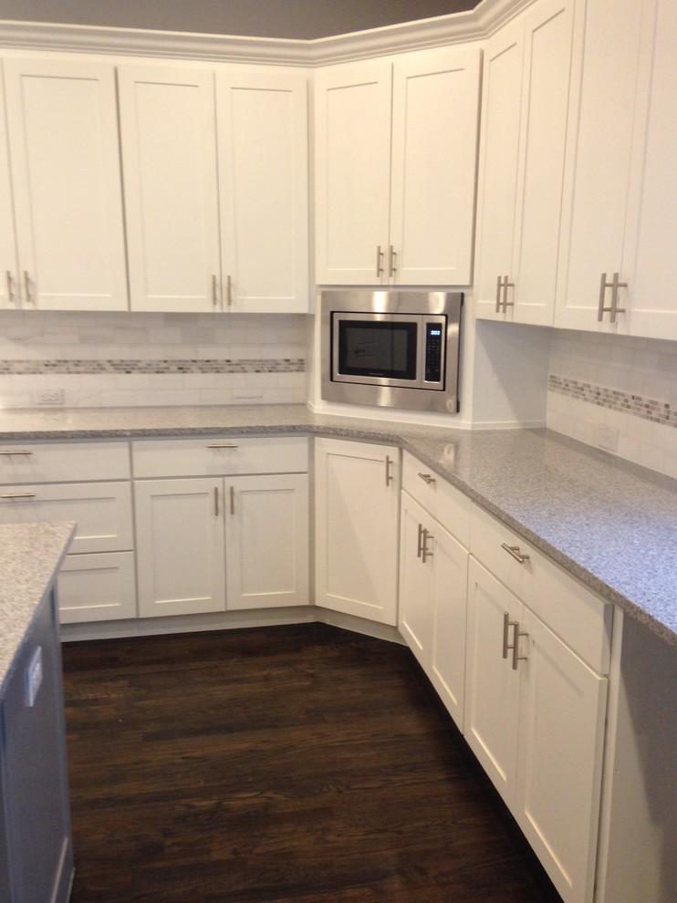 corner microwave modern kitchen
