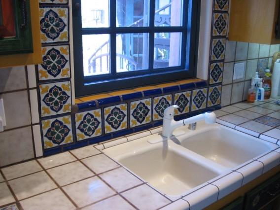 mexican tile backsplash houzz
