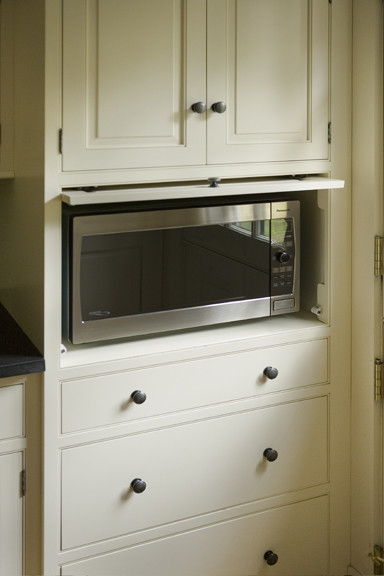 microwave cabinet traditional