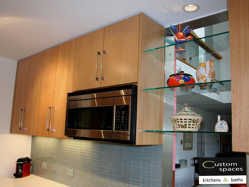 microwave cabinet modern kitchen