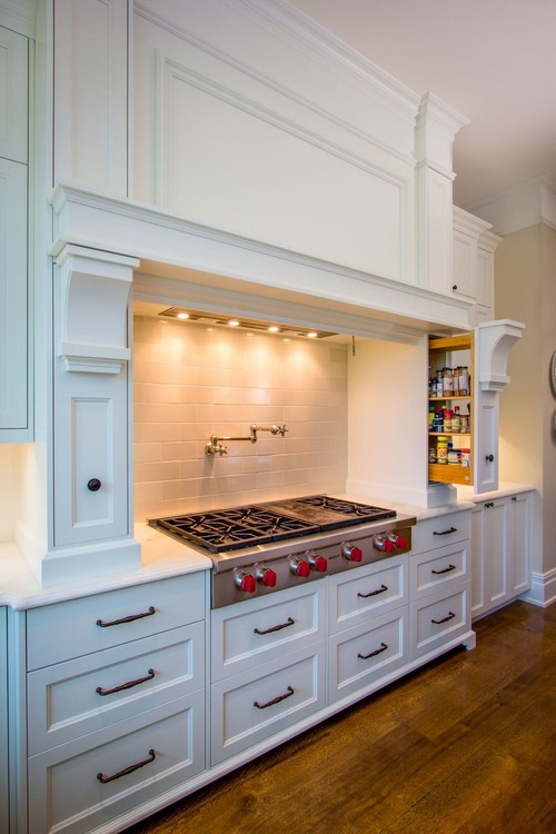 Beautiful Kitchen Organization Ideas With Built In Pull Out Spice Rack