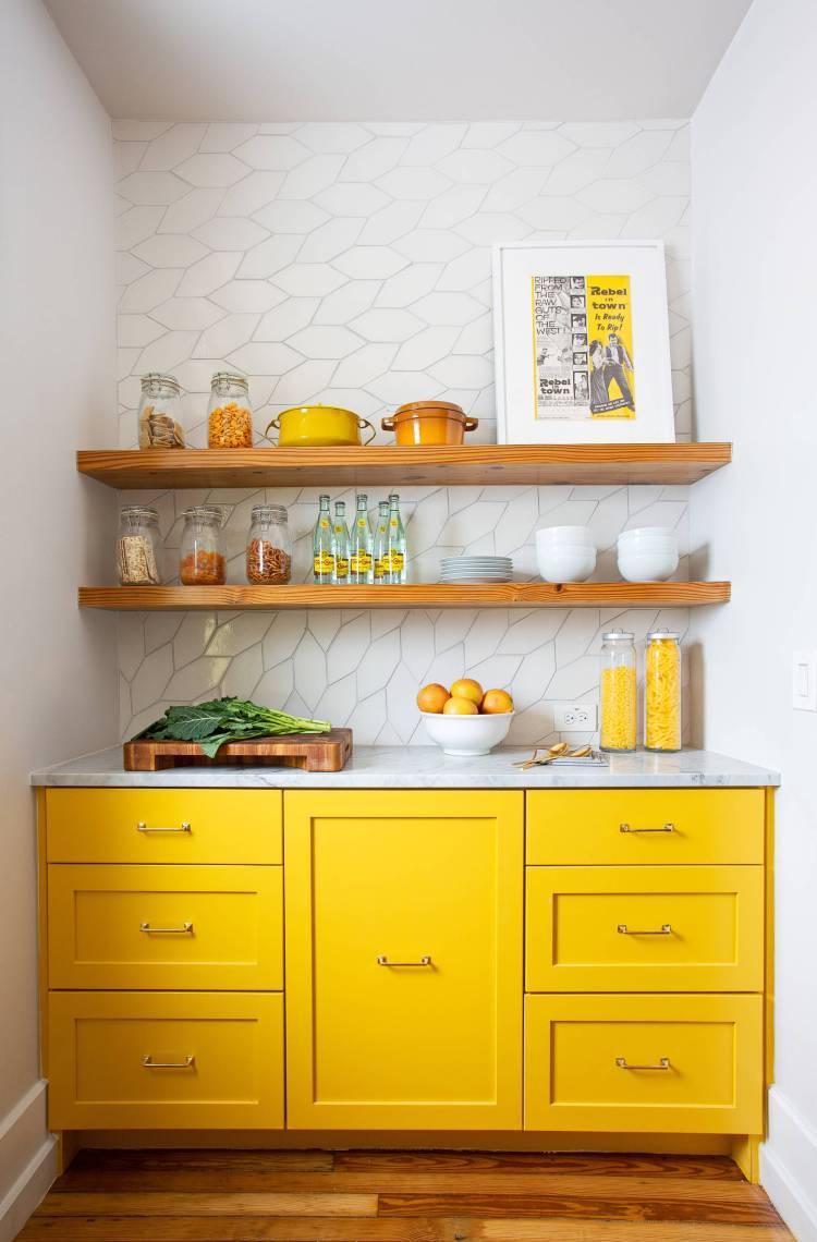 Yellow Kitchen Cabinets Houzz