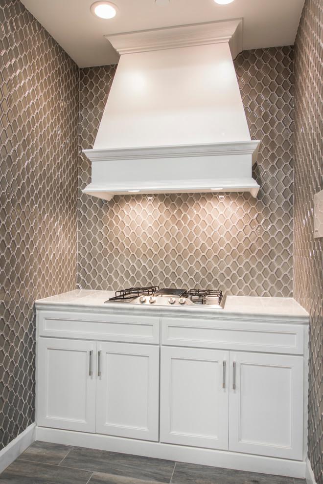 the tile shop hex backsplash kitchen