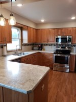 Traditional Kitchen Remodel with New Oak Cabinets ...