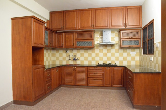 U Shaped Kitchen Designs For Indian Homes Indian Kitchen Bengaluru By Scale Inch Pvt Ltd