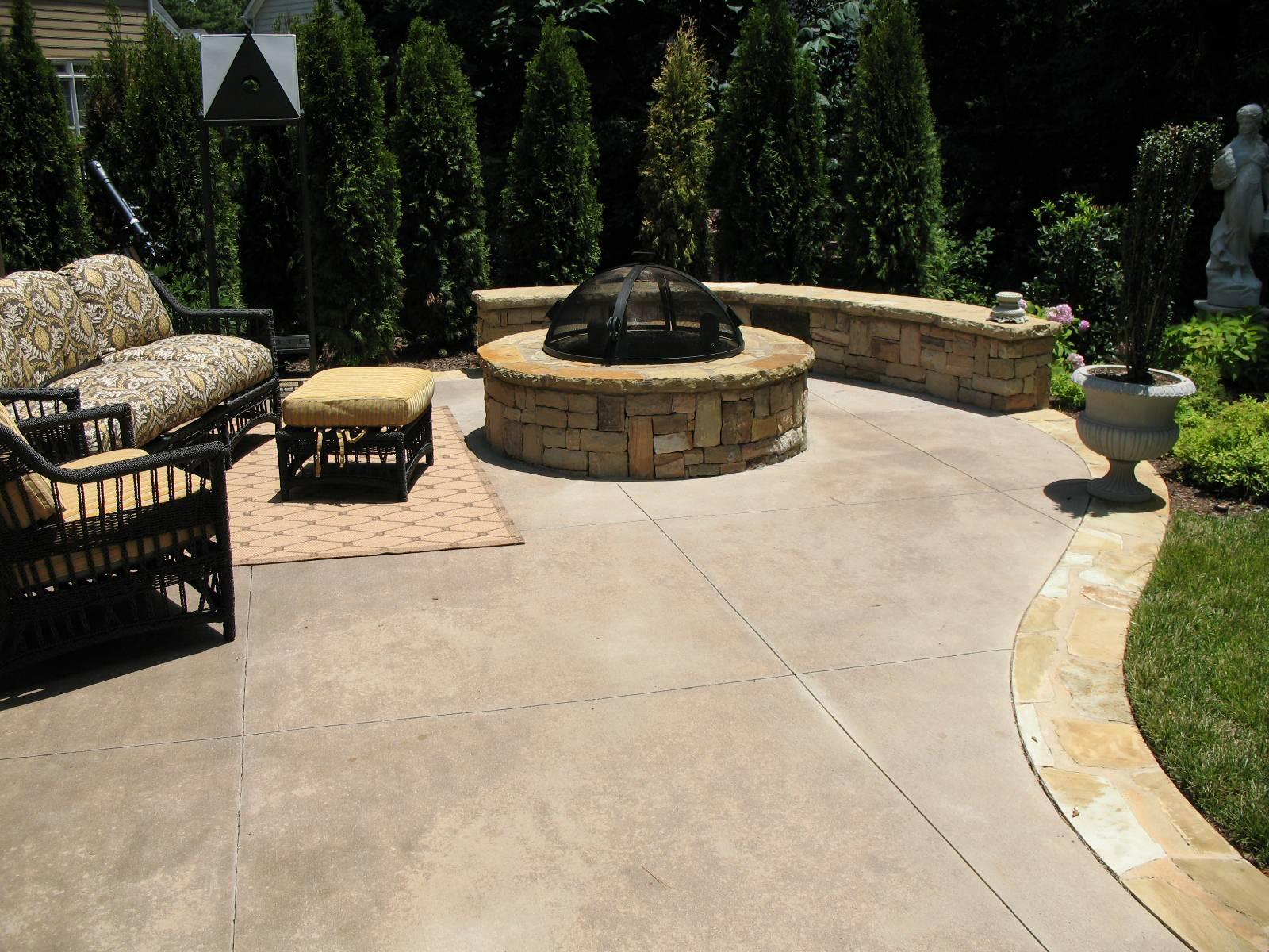 colored concrete patio houzz