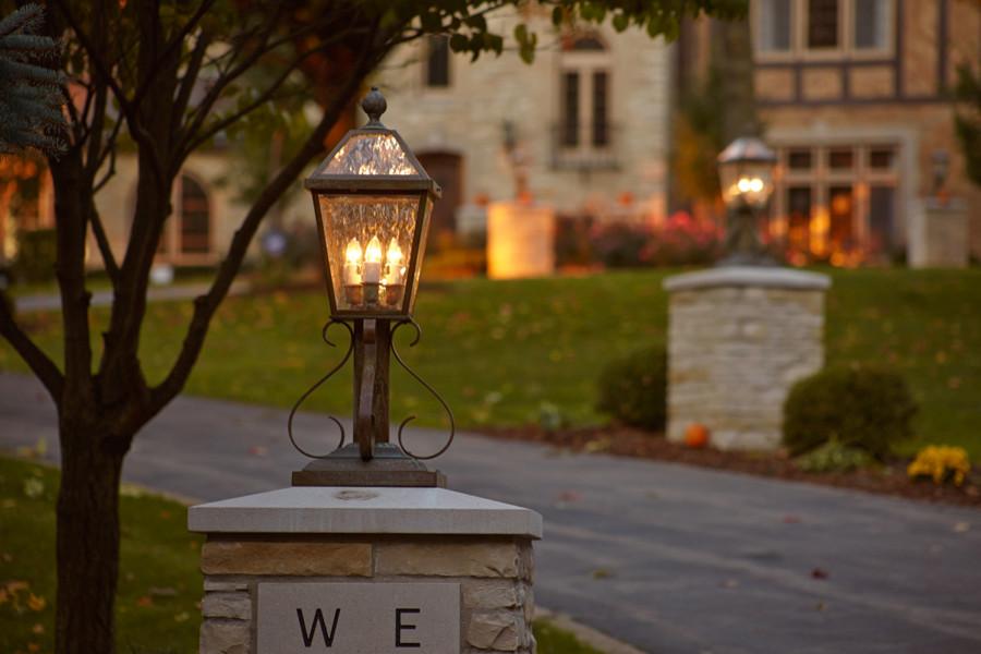 elegant driveway lighting traditional