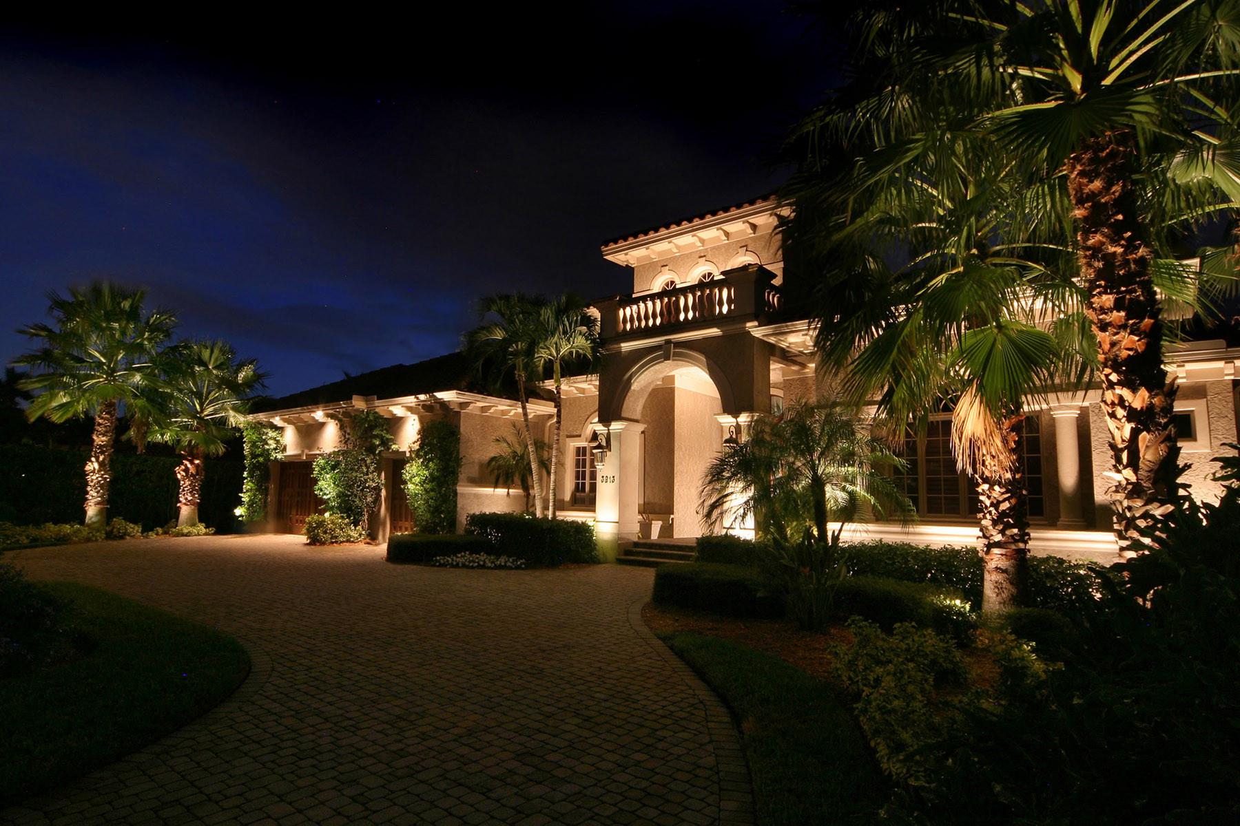 exterior led lighting tropical