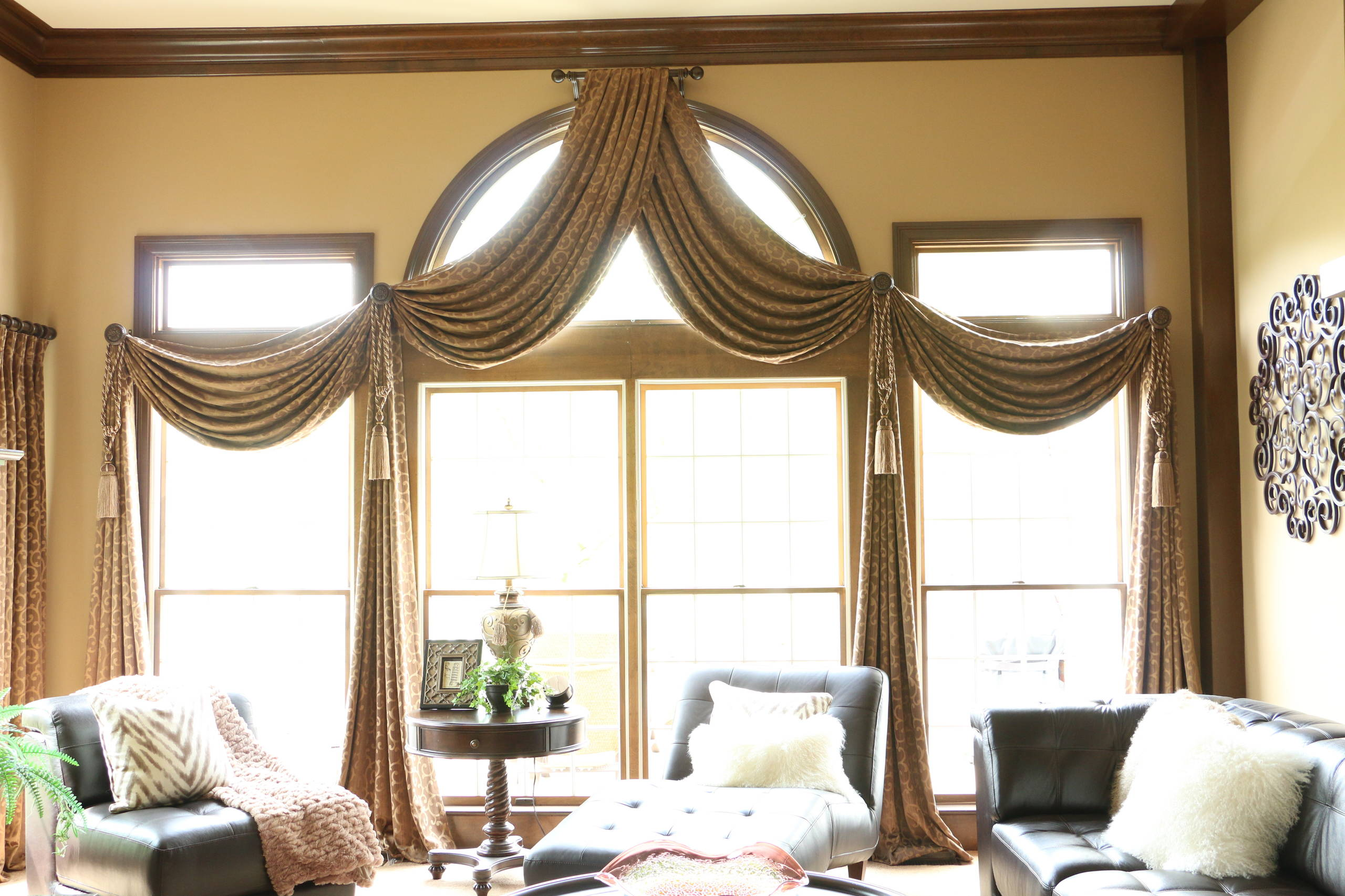 arched window treatment ideas
