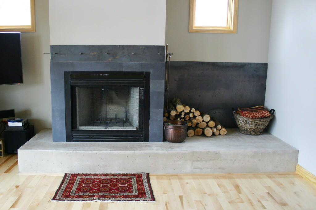 slate tile fireplace surround houzz