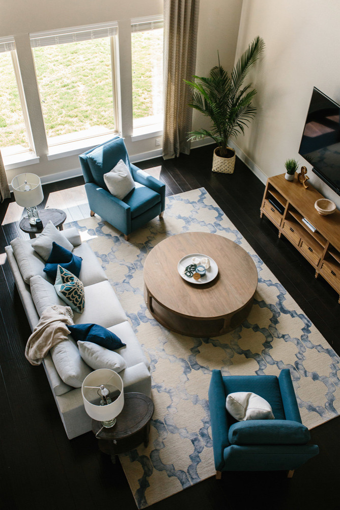 75 Beautiful Dark Wood Floor Living Room Pictures Ideas August 2021 Houzz