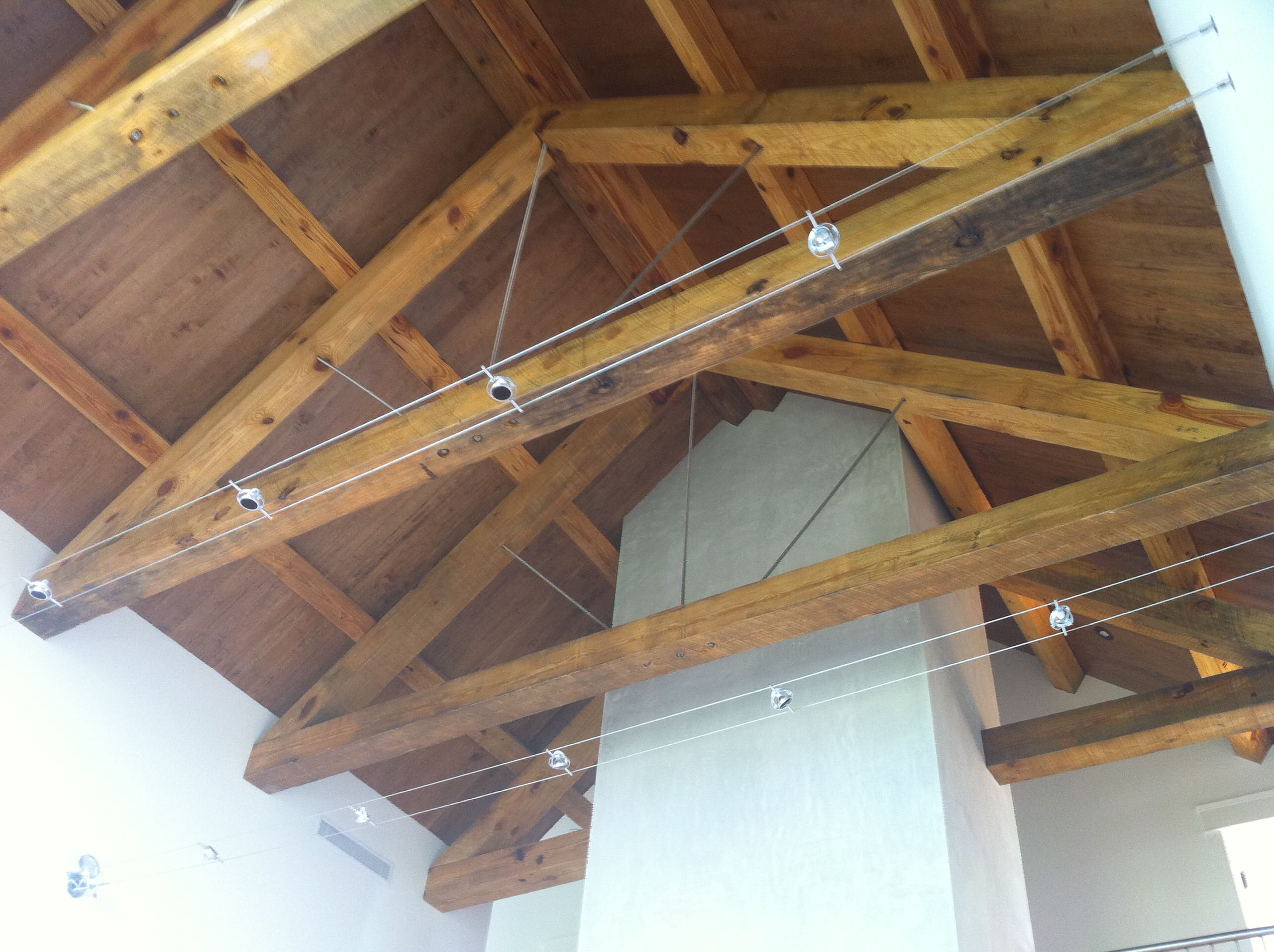 track lighting on beams houzz