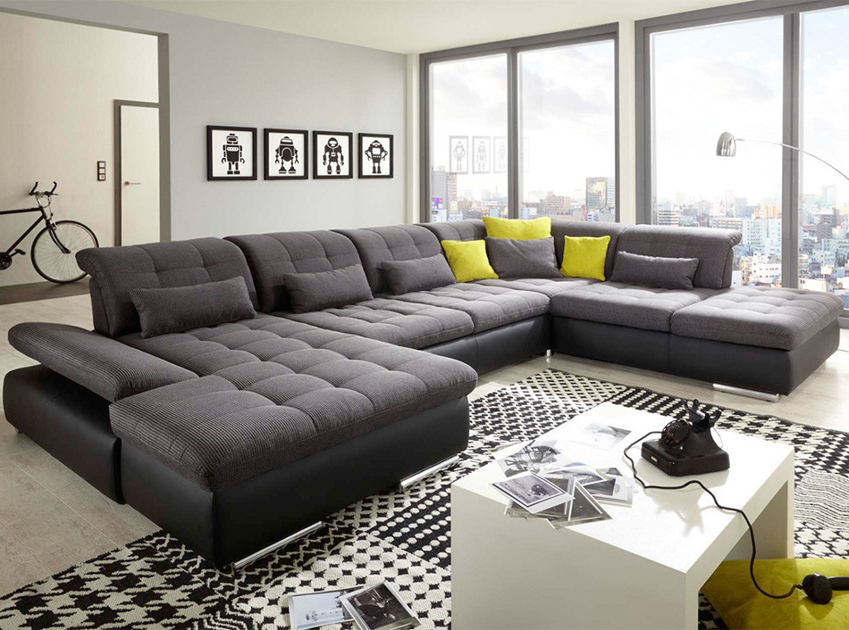 u shape sectional sleeper sofa alpine