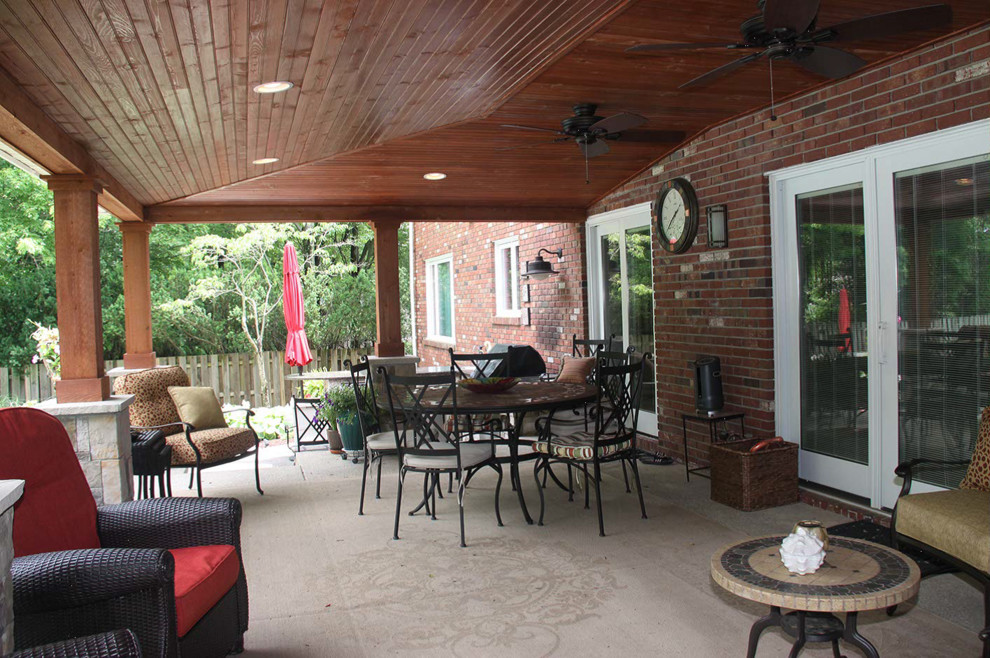 covered patio ideas cleveland rustic