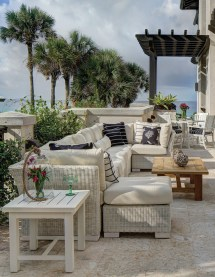 eclectic style with outdoor furniture