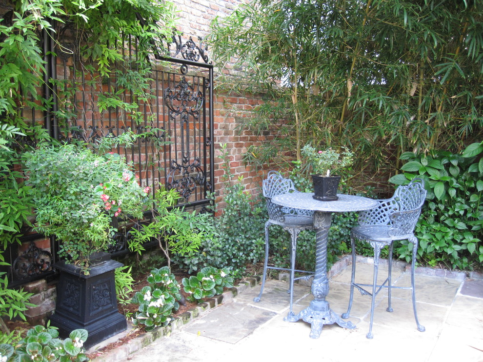 french quarter courtyard eclectic