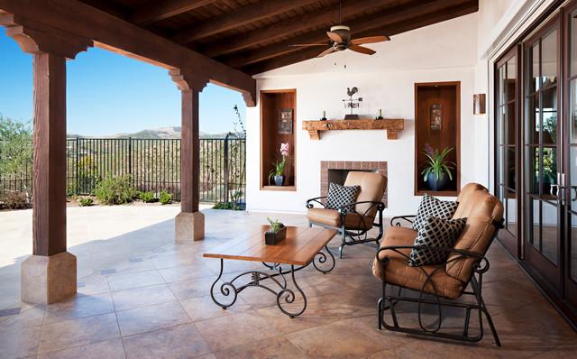 hilltop hacienda mediterran patio