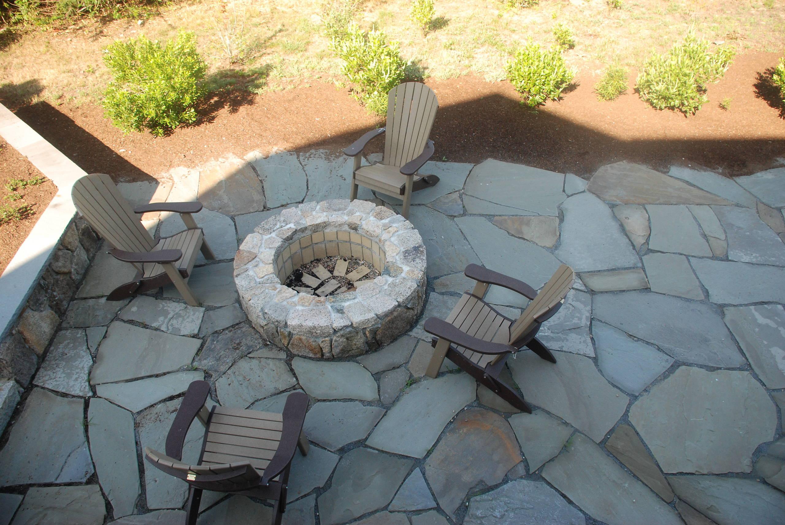 irregular bluestone patio houzz