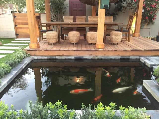 koi pond minimalistisch patio los