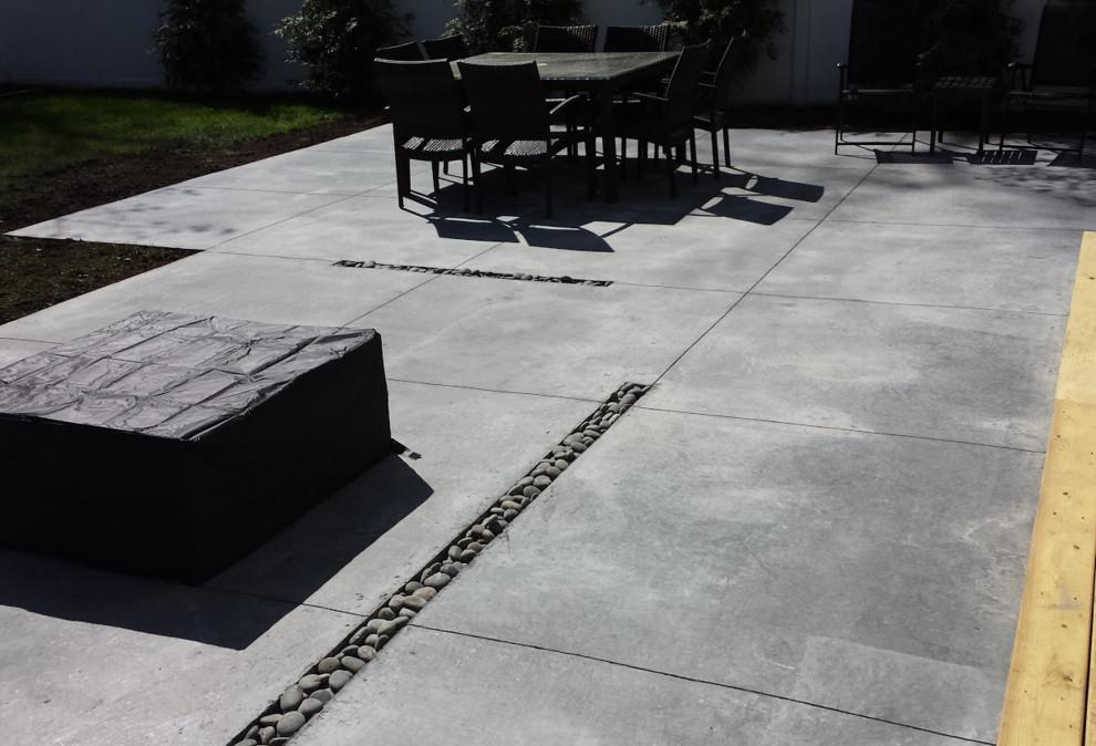 modern concrete patio long island