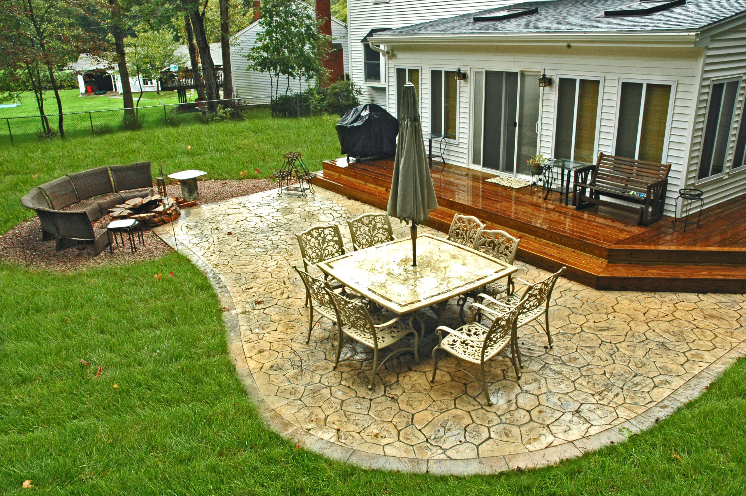 small stamped concrete patio
