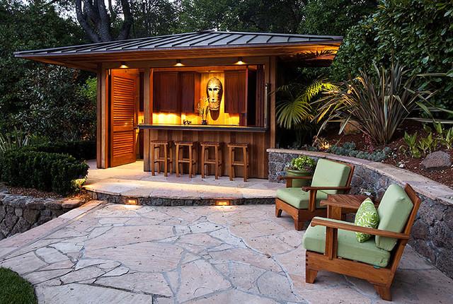 outdoor bar kolonialstil patio