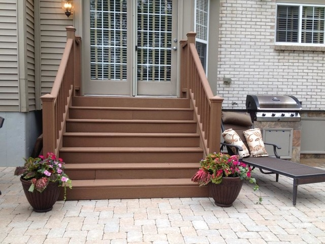 Paver Patio With Pit Seating Wall And Grill Trex Steps | Paver Patio Steps Designs | Retaining Wall Pergola | Landscaping | Building | Easy Diy | Stair