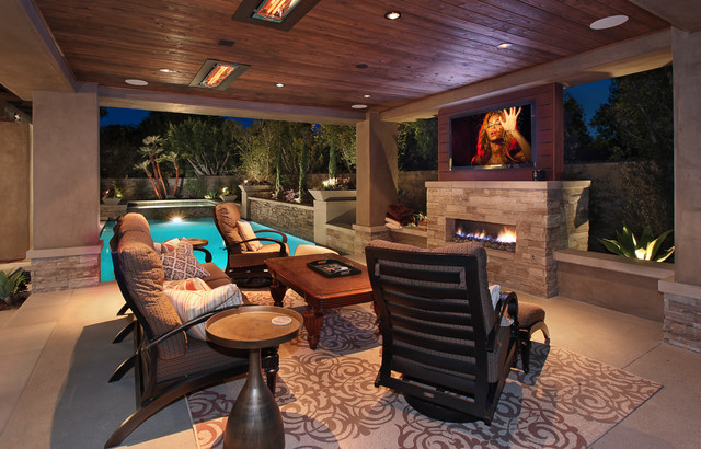 a cabana or covered patio