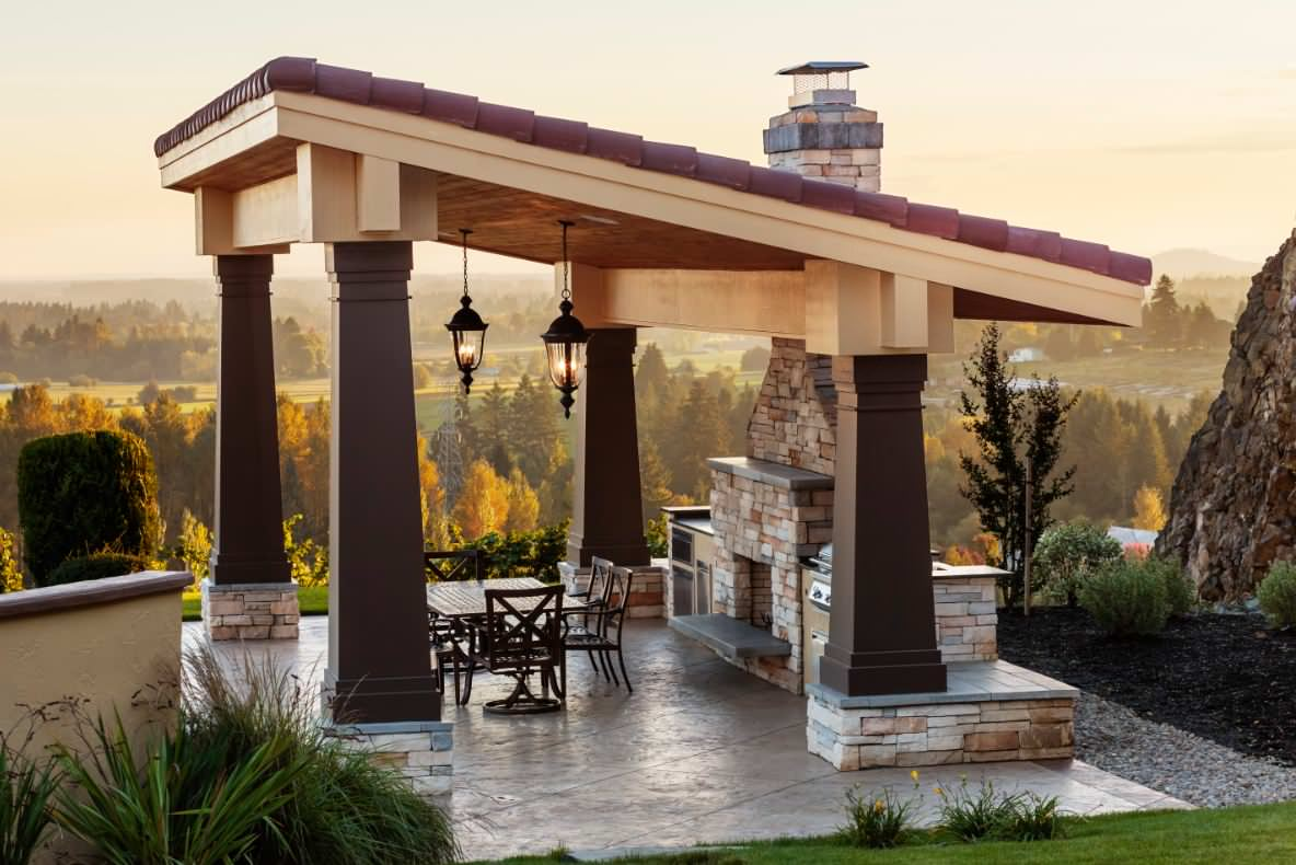 detached covered patio houzz