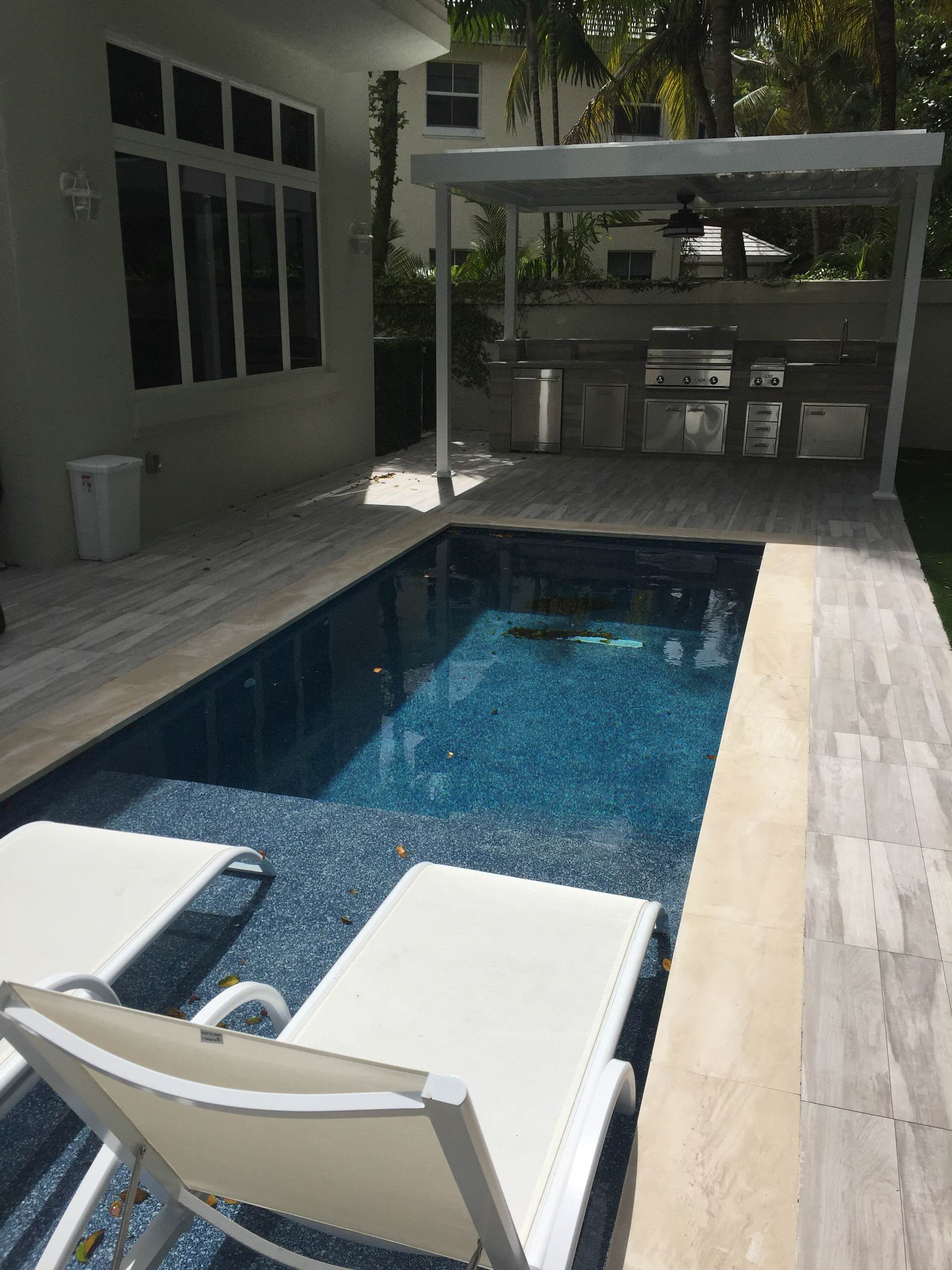 75 beautiful black tile pool pictures
