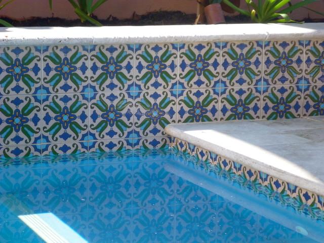 decorative pool tiles houzz