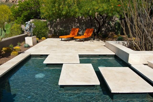 scottsdale estate floating tile pool